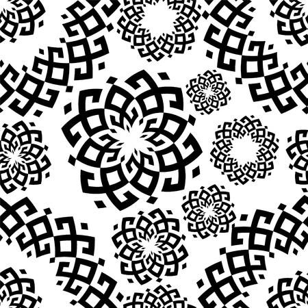 Vector pattern in ethnic style. Siberian ornament Stock Photo