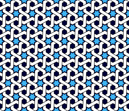 Arabic patterns background. Geometric seamless muslim ornament backdrop. Vector illustration of islamic texture. Traditional arab wallpaper