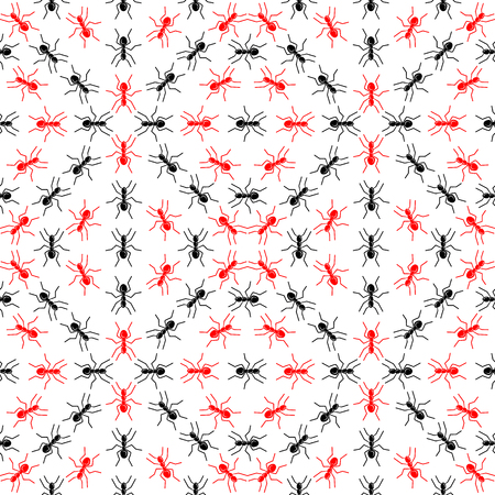 Illustration of ants on a white background. Vector.