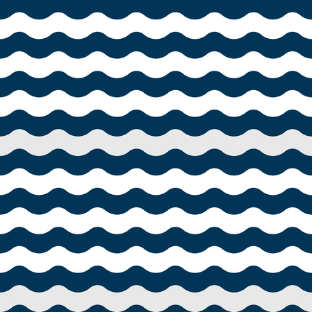 Wave pattern. Vector seamless pattern in simple design Stock Illustratie