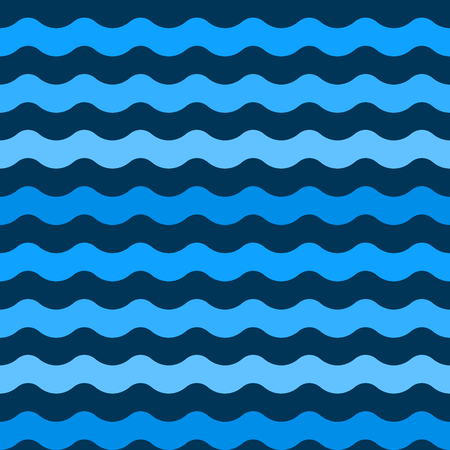 Seamless blue wave vector patterns. Wave blue pattern sea. Vector seamless pattern Stock Illustratie