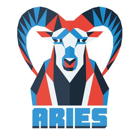 aries: Horoscope, polygonal flat zodiac sign, astrological sign