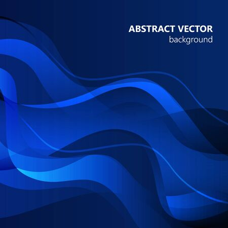 Blue vector Template Abstract background with curves. For flyer, brochure, booklet and websites design 向量圖像