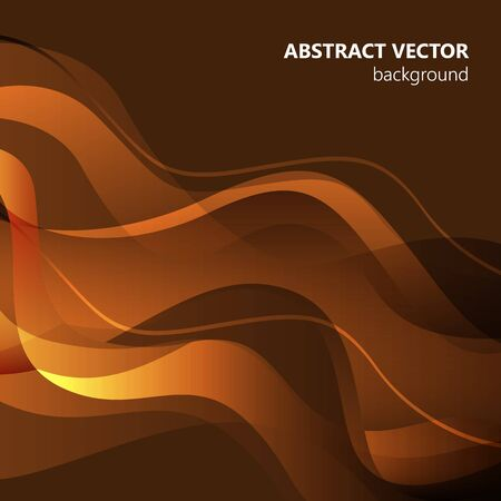 Brown vector Template Abstract background with curves. For flyer, brochure, booklet and websites design