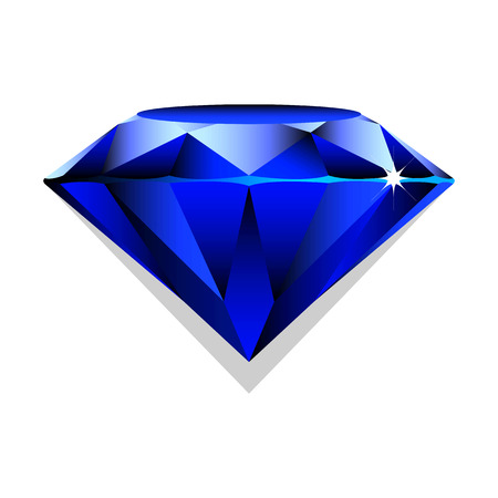 sapphire: Black sapphire, brilliant on white background