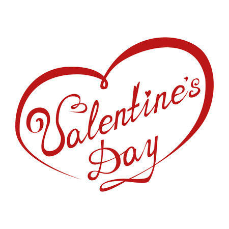 Valentine's Day poster. Typographical Background. Lettering on white background. Illustration