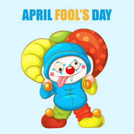 April Fools Day scherzo divertente. Illustrazione per biglietto di auguri, annuncio, promozione, poster, aletta di filatoio, blog, articolo, marketing, segnaletica, email