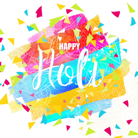 pichkari: Flyer, Banner, Card or Pamphlet for Holi festival. Colorful card with greeting - Happy Holi. Illustration