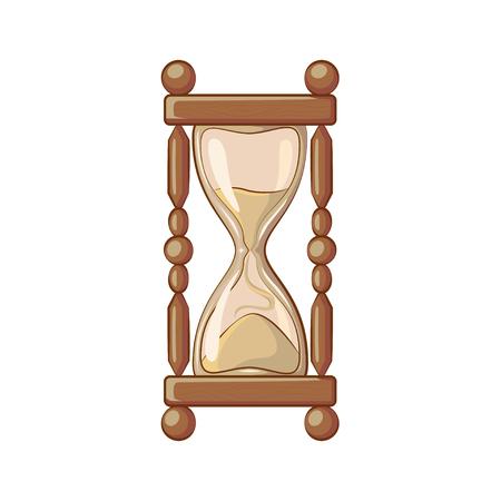 Icon Magic hourglass. Cartoon style. Illustration