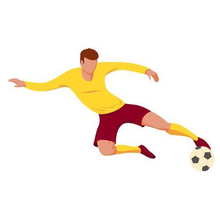 Soccer player. Vector illustration on white background.