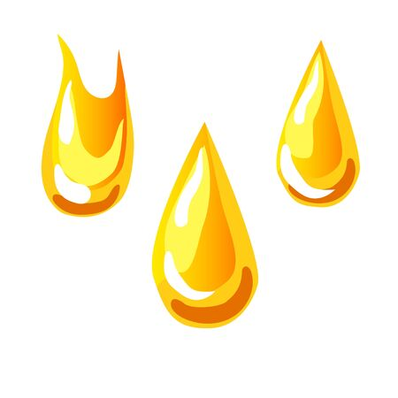 Drop of oil, tea, honey. Vector icon illustration