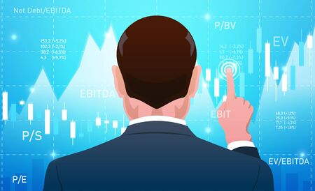 Businessman, investor, analyst or broker Trading Stocks