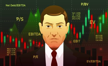 Businessman, investor, analyst or broker Trading Stocks, dark background