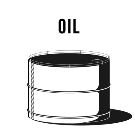Oil storage facility. Industrial facilitie Tank for storage oil vector illustration. Falling oil prices on stock market. vector illustration 向量圖像