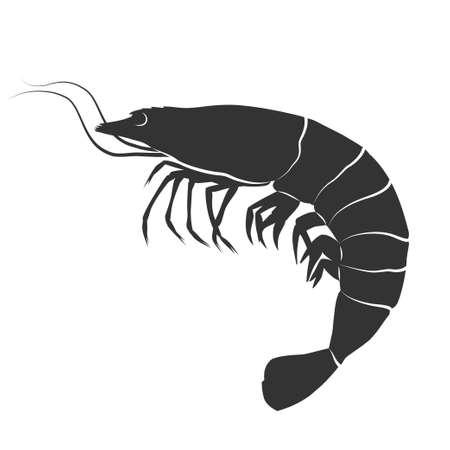 Shrimp icon. Vector concept illustration for design.