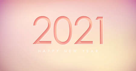 Happy New 2021 Year greeting card. Flyer, poster, invitation or banner for New Years 2021