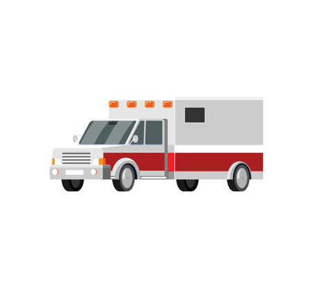 Ambulance Car vector icon. Cartoon style illustration Illusztráció