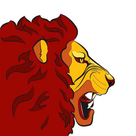 Mascot Wild Roaring Lion Head