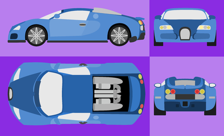 Blue Car vector design. Perfect for your personal project 向量圖像
