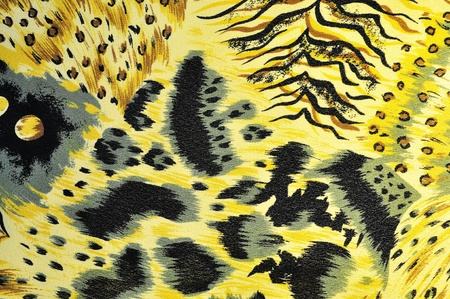 camouflage skin: tiger yellow fabric