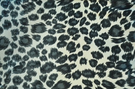 tiger fabric white and black