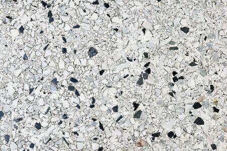 concrete floor mix white and black
