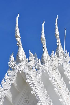 art on white Thai temple