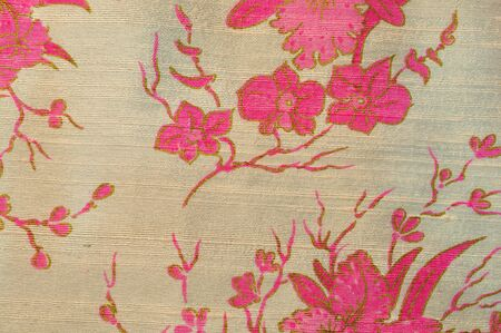 Thai fabric pattern photo