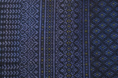 Thai blue silk pattern photo