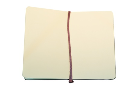 open book on isolated background