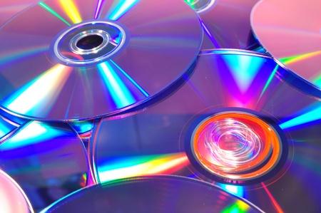 discos compactos aislados Foto de archivo