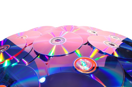 compact discs on isolated Stock Photo
