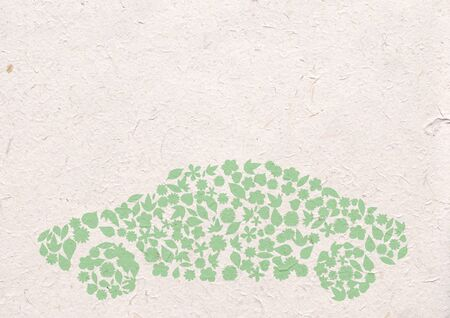 flower car Icon. Pollution Concept. Go Green, ecology concept, high resolution  photo