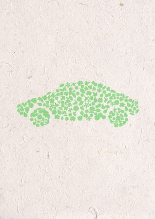 flower car Icon. Pollution Concept. Go Green, ecology concept, high resolution