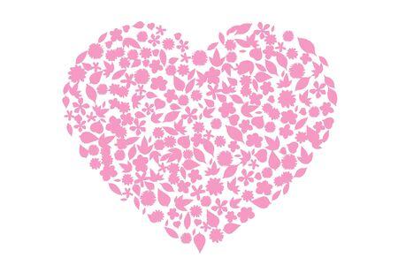 Coeur de fleurs séparés sur fond blanc Images à haute résolution