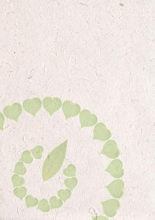 recycle paper craft, ecology concept with heart of green leaves in recycle sign on recycle paper