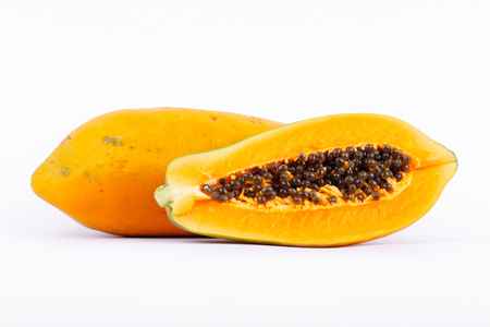 excretion: Ripe papaya is healthy fruit. It is rich in vitamins and helps in the excretion. Stock Photo