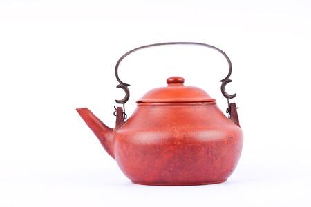 terracotta: Ancient terracotta teapot