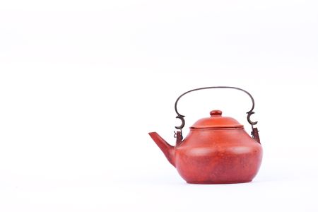 home interiors: Ancient terracotta teapot for home interiors