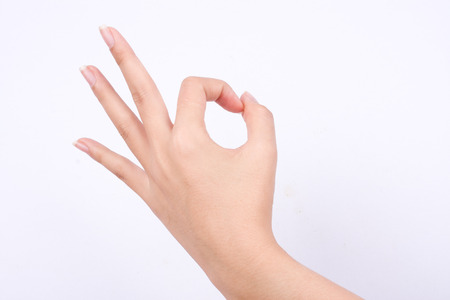 agree: finger hand symbols isolated the concept hand gesturing sign ok okay agree on white background