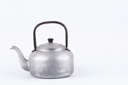 Alte Vintage Retro Wasserkocher Auf Weißem Hintergrund Trinken ...