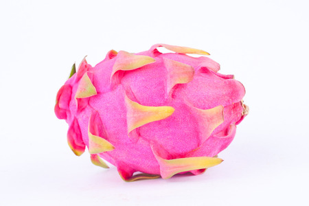 dragonfruit: dessert  organic dragon fruit (dragonfruit) or pitaya on white background healthy fruit food isolated
