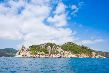 koh tao is an island in the gulf of thailand in surat thani on beautiful nature tourism landscape background