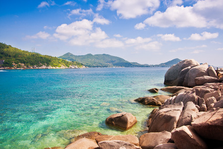 beautiful paradise tropical island koh tao thailand on beautiful nature seascape background  on beautiful nature seascape background