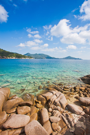 koh tao island is popular exotic tourism for drive scuba with a beautiful nature landscape background Reklamní fotografie