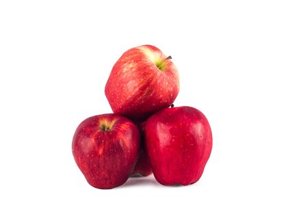 red apples fruit on white background fruit agriculture food isolated Stock fotó