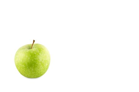 green apple fruit on white background fruit agriculture food isolated