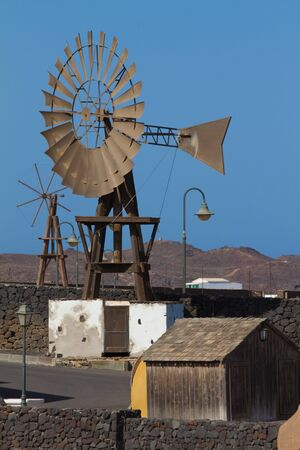 Traditional windmill at Lanzarote island