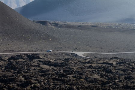 Volcanic landscape in the National park Timanfaya Lanzarote island