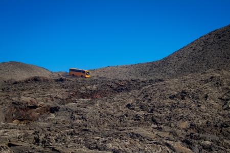 timanfaya: Volcanic landscape in the National park Timanfaya Lanzarote island